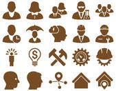 Client and business icon set — Stock Photo