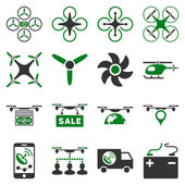 Drone service icon set — Stock Vector