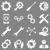 Options and service tools icon set — Stock Photo