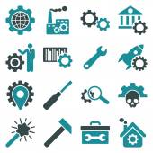 Options and service tools icon set — Stock Vector