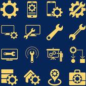 Opties en hulpmiddelen pictogram-service instellen — Stockvector