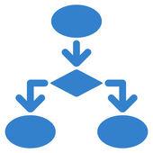 商务套流程图的图标 — 图库矢量图片