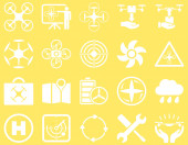 Air drone and quadcopter tool icons — Stock Photo