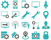 Configuración e iconos de herramientas — Vector de stock