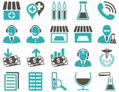 Medical bicolor icons — Stock Vector