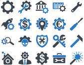 Configurações e ferramentas ícones — Vetor de Stock