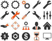 Settings and Tools Icons — Stock Vector