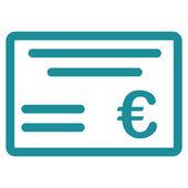 Cheque icon — Stock Photo