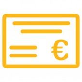 Cheque icon — Stock Photo