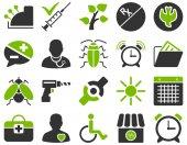 Medische bicolor pictogrammen — Stockfoto