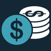 Dollar Coins icon from Business Bicolor Set — Stock Photo