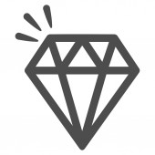 Crystal Icon from Commerce Set — Stock Photo