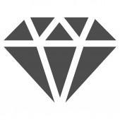 Diamond Icon from Commerce Set — Stock Photo