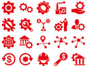 Configurações e ferramentas ícones — Fotografia Stock