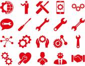 Settings and Tools Icons — Stock Photo