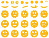 Tools, gears, smiles, emoticons icons — Stock Photo
