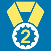 Second place icon — Stock Photo