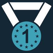 Primeiro ícone de medalha — Fotografia Stock