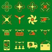 Drone dienst pictogrammenset — Stockvector
