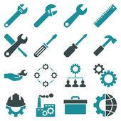 Alternativ och service verktyg Ikonuppsättning — Stockfoto