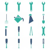 Instruments and tools icon set — Stock Photo