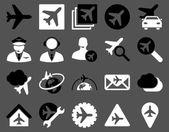航空图标集 — 图库照片