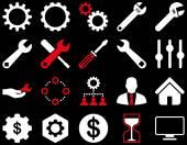 Le impostazioni e le icone degli strumenti — Vettoriale Stock