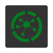 Connections diagram icon — Stock Photo