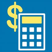 Calculation Icon from Commerce Set — Stock Photo
