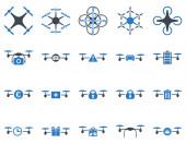 Air tool ikoner drone och quadcopter — Stockfoto