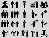 Management and people occupation icon set. — Stock Photo