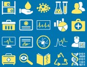 Medical bicolor icons — Stock Photo