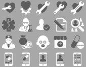 Médicos iconos bicolor — Foto de Stock