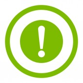 Problem flat eco green color rounded raster icon — Stock Photo