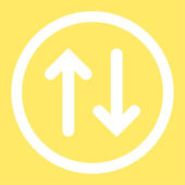 Flip flat white color rounded raster icon — Stock Photo