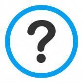 Вопрос плоские синего и серого цветов округлые растровых значок — Стоковое фото