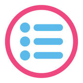 Items flat pink and blue colors rounded raster icon — Stock Photo