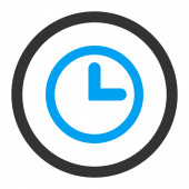 钟平蓝色和灰色颜色圆形栅格图标 — 图库照片