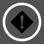 Error flat black and white colors rounded vector icon — Stock Vector
