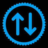 Flip flat blue color round stamp icon — Stock Vector