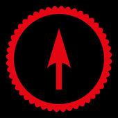 Arrow Axis Y flat red color round stamp icon — Stock Photo