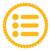 Items flat yellow color round stamp icon — Stock Photo