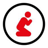 Pray icon — Stock Photo