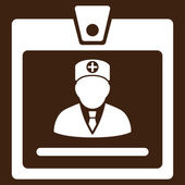 Doctor Badge Icon — Stock Photo