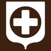 Medical Shield Icon — Stock Photo