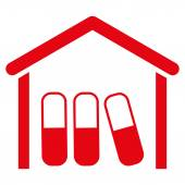 Leki garaż ikona — Wektor stockowy
