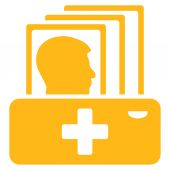 Pacienta katalog ikona — Stock vektor