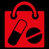Ikona torba na zakupy leków — Wektor stockowy