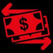 Icona di scambio di denaro — Vettoriale Stock