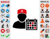 Doctor Calendar Icon — Stock Photo